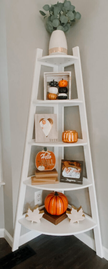 corner shelf decor