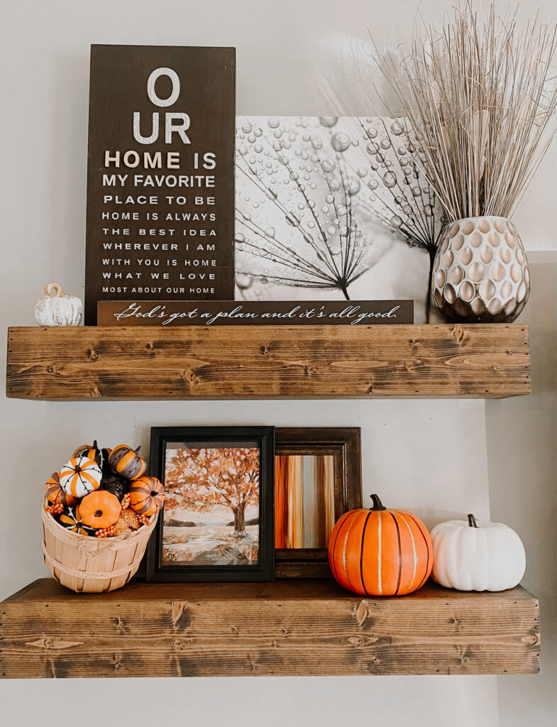 wood shelf decor